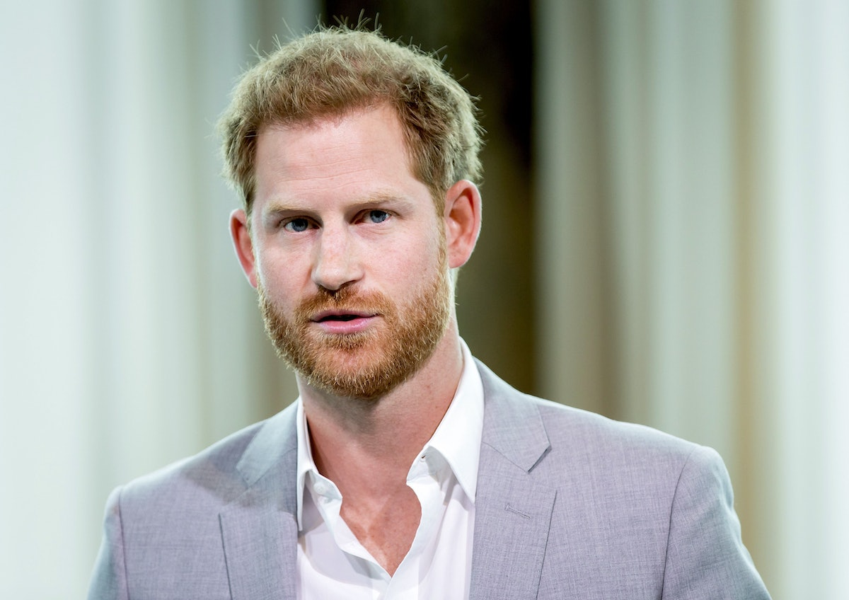 Britain's Prince Harry attends the Adam Tower project introduction and global partnership between Bo...