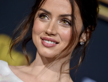 """WESTWOOD, CALIFORNIA - NOVEMBER 14: Ana de Armas attends the Premiere of Lionsgate's """"Knives Out"""" at..."""