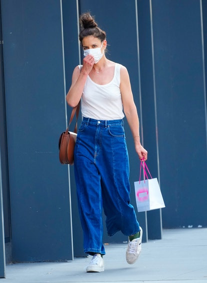 NEW YORK, NEW YORK - JUNE 14: Katie Holmes out and about on June 14, 2021 in New York City. (Photo by Gotham/GC Images)