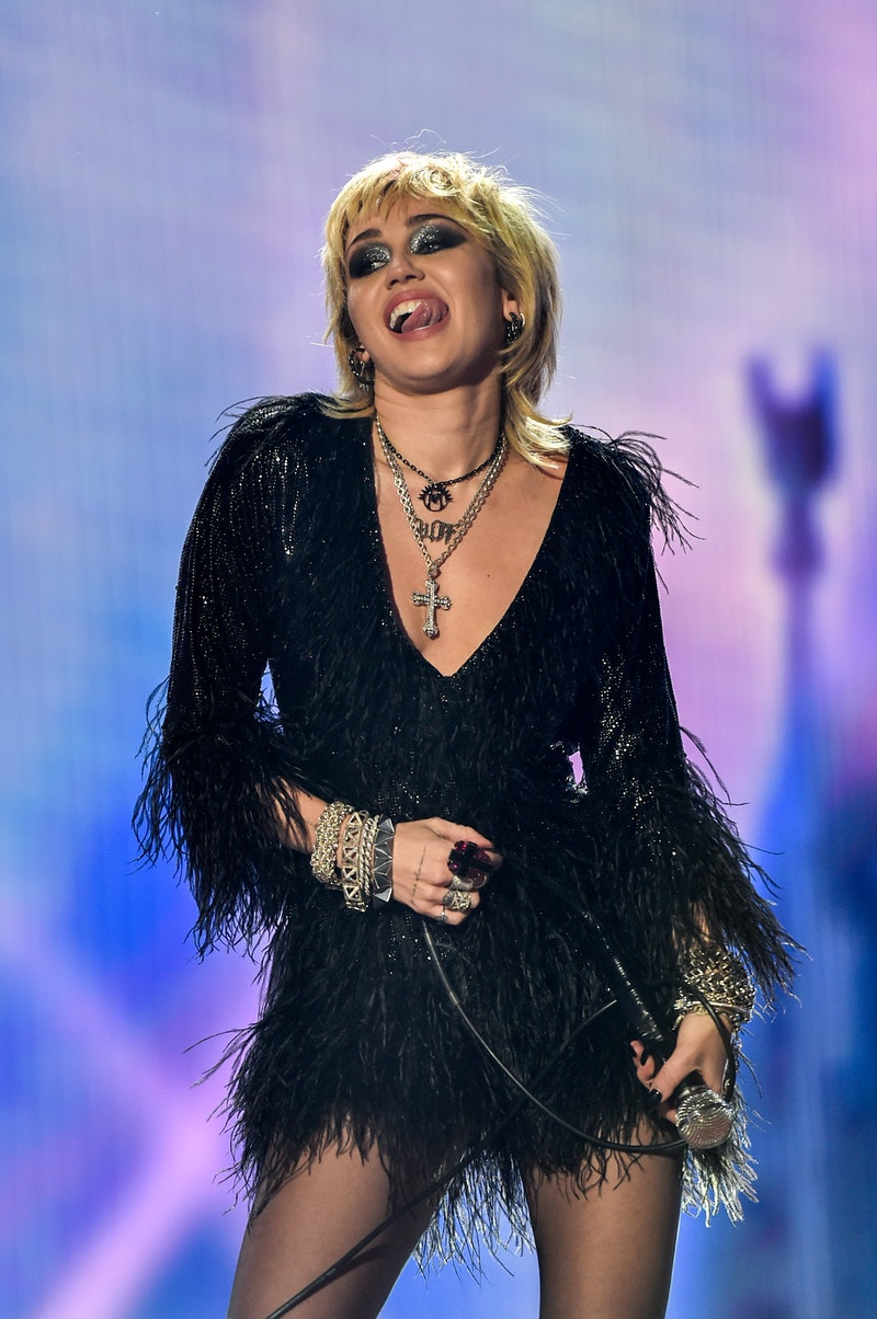 LOS ANGELES, CA – DECEMBER 31st: In this image released on December 31, Miley Cyrus performs at Dick...