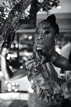 Angelica Ross at a party in February 2020 in Los Angeles, California.
