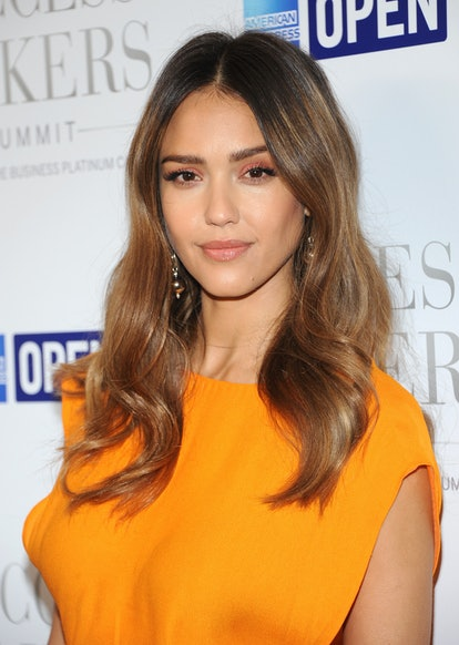 This summer, try a caramel hair color like Jessica Alba's.