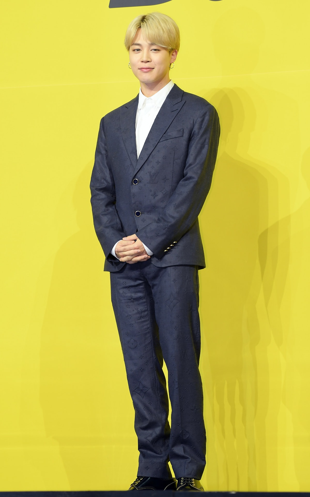 SEOUL, SOUTH KOREA - MAY 21: Jimin of BTS attends a press conference for BTS's new digital single 'B...