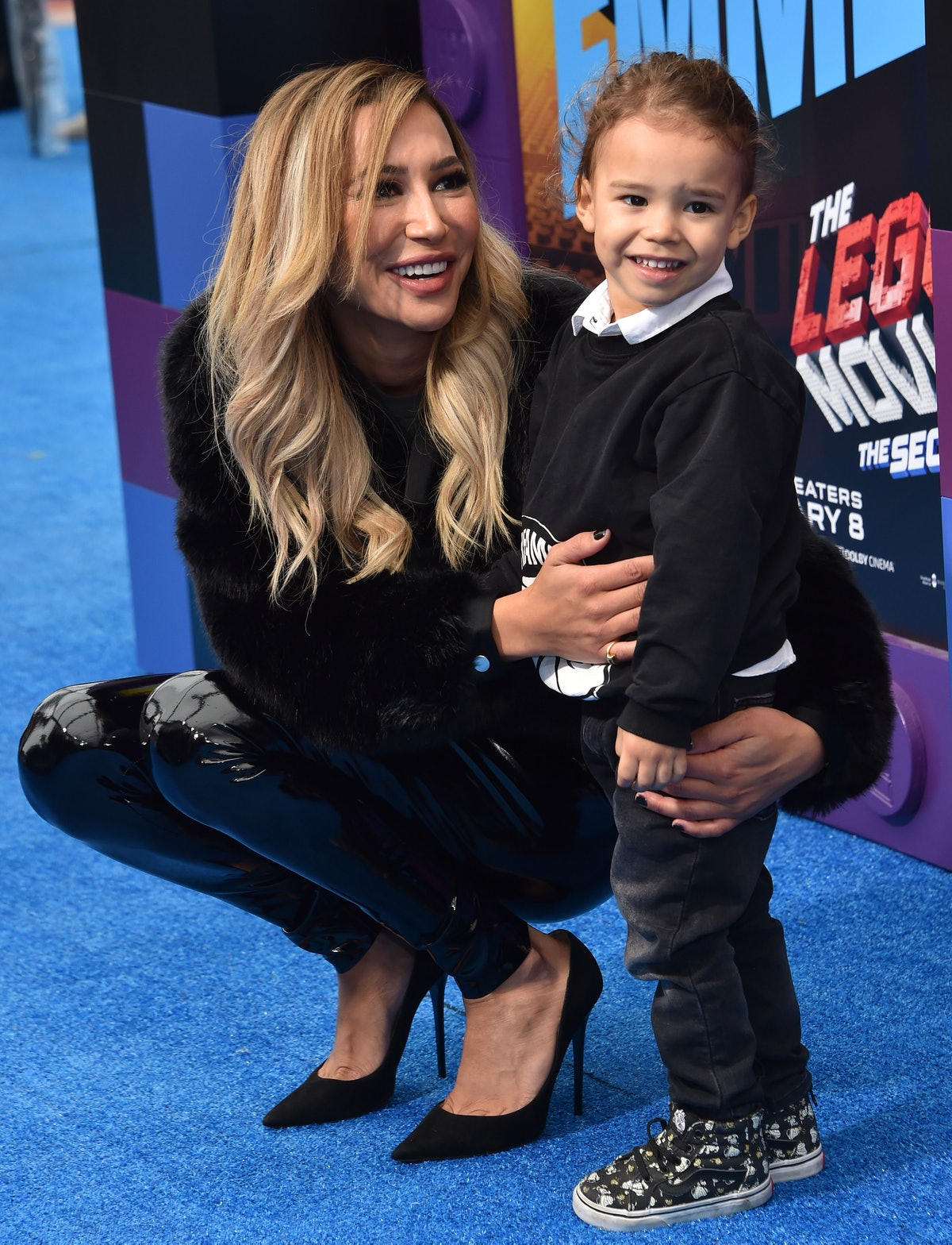 """US actress Naya Rivera and son Josey Hollis Dorsey arrive for the premiere of """"The Lego Movie 2: The..."""