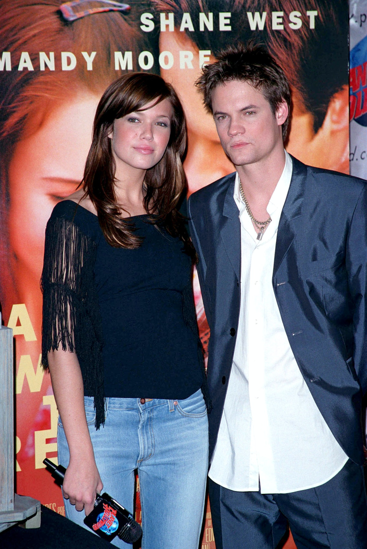 Mandy Moore and Shane West, shown here at a film screening, crushed on each other during the filming...