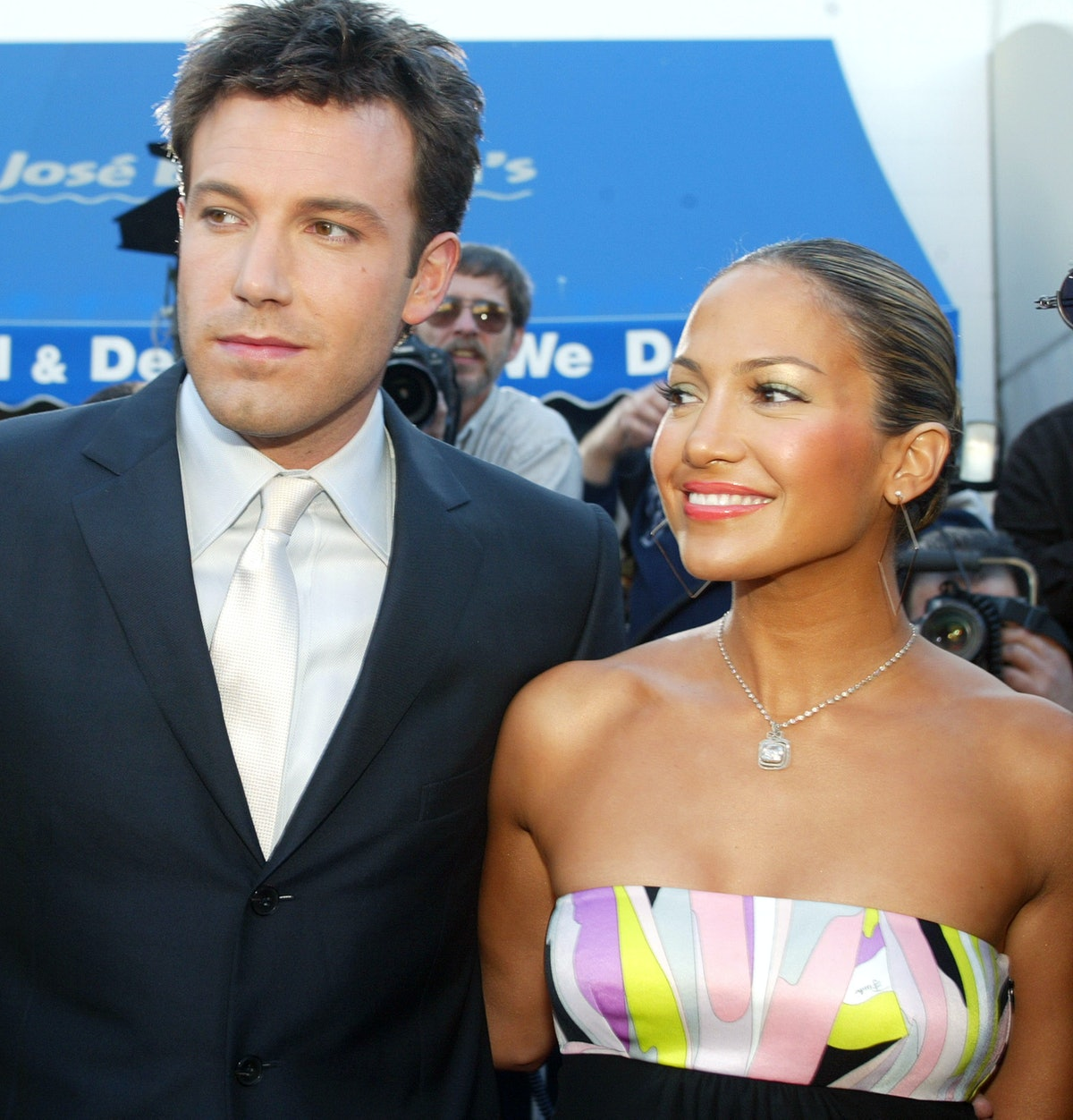 Take a trip down memory lane to see Jennifer Lopez and Ben Affleck's best couple outfits, from her p...