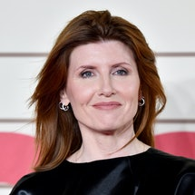 """LONDON, ENGLAND - FEBRUARY 24: Sharon Horgan attends the """"Military Wives"""" UK Premiere at Cineworld Leicester Square on February 24, 2020 in London, England. (Photo by Gareth Cattermole/Getty Images)"""