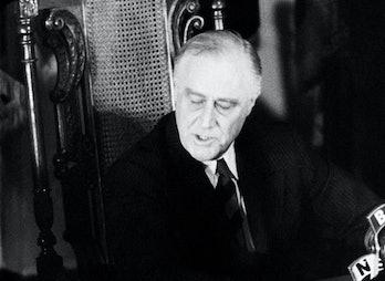 WASHINGTON, D.C. - CIRCA 1940: President Franklin Delano Roosevelt (1882-1945), 32nd President of th...