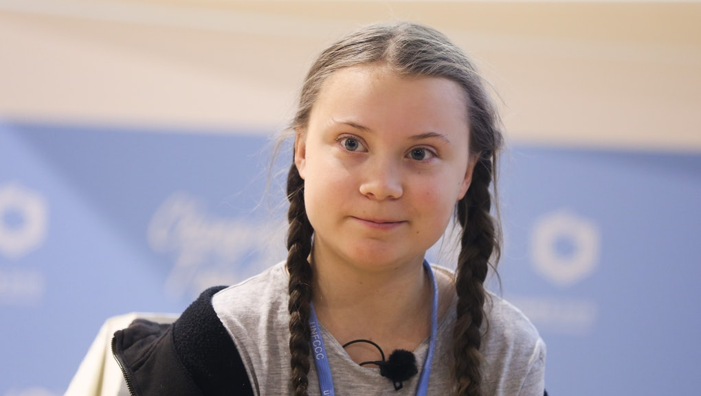 15-year-old Swedish climate activist Greta Thunberg during COP 24, the 24th Conference of the Partie...