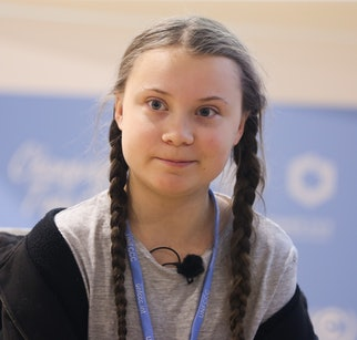 15-year-old Swedish climate activist Greta Thunberg during COP 24, the 24th Conference of the Parties to the United Nations Framework Convention on Climate Change, which takes place on December 2-14. Katowice, Poland on December 5th, 2018.  (Photo by Beata Zawrzel/NurPhoto via Getty Images)