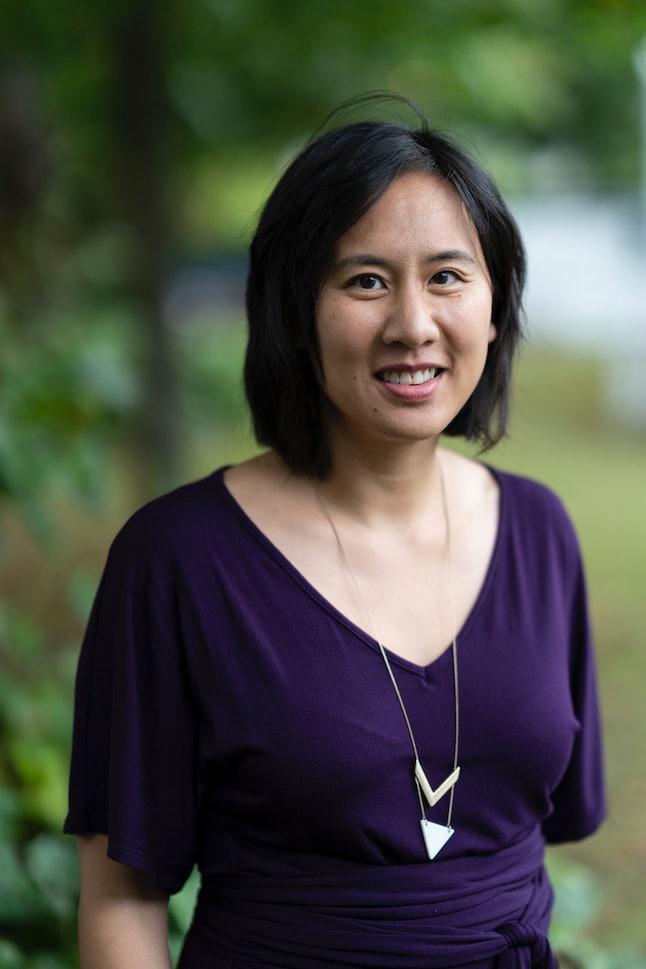 CHELTENHAM, ENGLAND - OCTOBER 5: Celeste Ng, American writer, at the Cheltenham Literature Festival ...