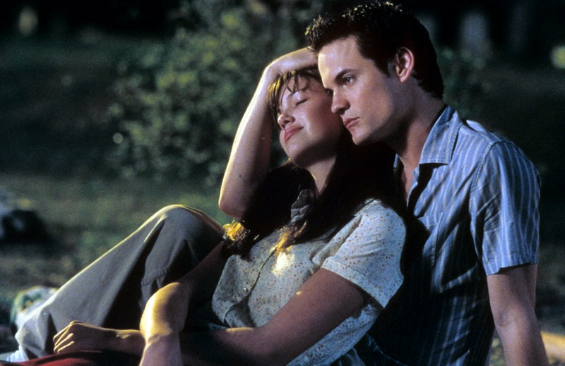 Mandy Moore is comforted by Shane West in a scene from the film 'A Walk To Remember', 2002. (Photo b...