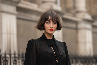Taylor Lashae epitomizes the French bob with curtain bangs.