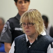 Joyce Mitchell  appears before the Judge on June 15, 2015 in Plattsburgh, New York. Mitchell allegedly  aided inmates Richard Matt and David Sweat in their escape from Clinton Correctional Facility. They were discovered missing the morning of June 6.