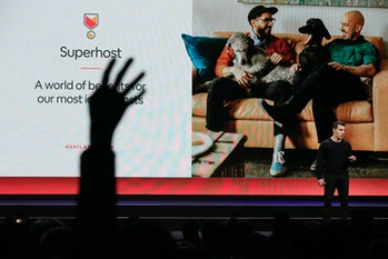 Airbnb co-founder and CEO Brian Chesky speaks about the revamped Superhost program as Superhosts rai...