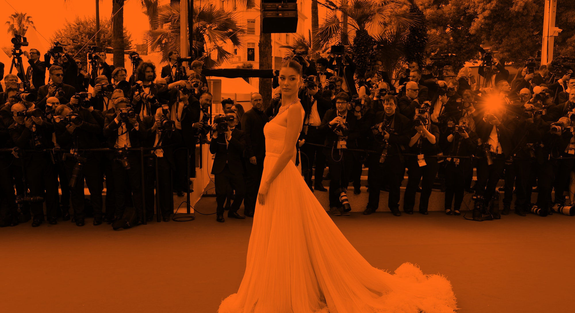 """CANNES, FRANCE - MAY 21: Camila Morrone attends the screening of """"Once Upon A Time In Hollywood"""" dur..."""