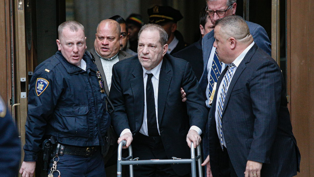 NEW YORK, NY - JANUARY 06: Harvey Weinstein leaves from the court on January 6, 2020 in New York Cit...