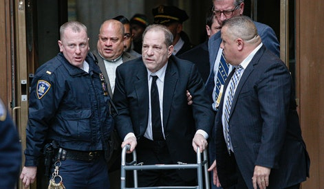 NEW YORK, NY - JANUARY 06: Harvey Weinstein leaves from the court on January 6, 2020 in New York City. Weinstein, a movie producer whose alleged sexual misconduct helped spark the #MeToo movement, pleaded not-guilty on five counts of rape and sexual assault against two unnamed women and faces a possible life sentence in prison. (Photo by Kena Betancur/Getty Images)