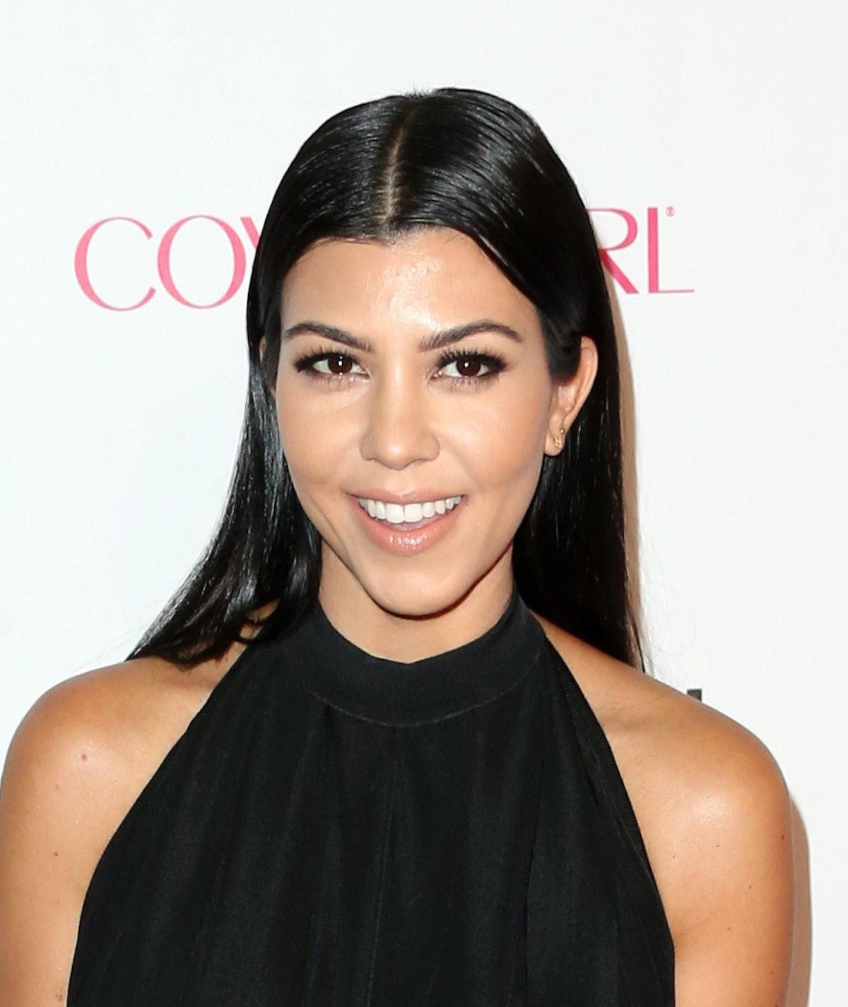 WEST HOLLYWOOD, CA - OCTOBER 12:  TV personality Kourtney Kardashian attends Cosmopolitan's 50th Bir...