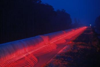 LIVINGSTON, LA - 1999:  This is a time-exposure representation of the Laser Interferometer Gravitati...