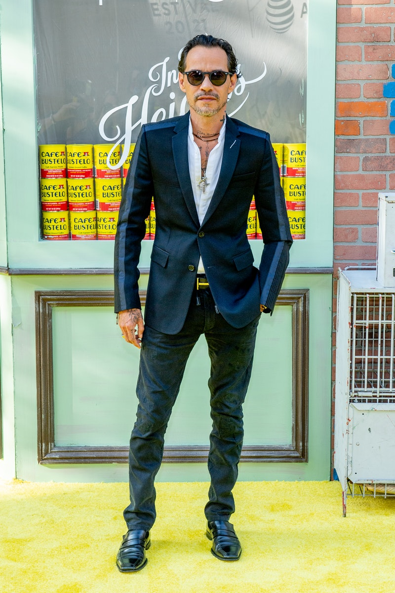 """Marc Anthony attends """"In The Heights"""" 2021 Tribeca Festival opening night premiere at United Palace Theater."""