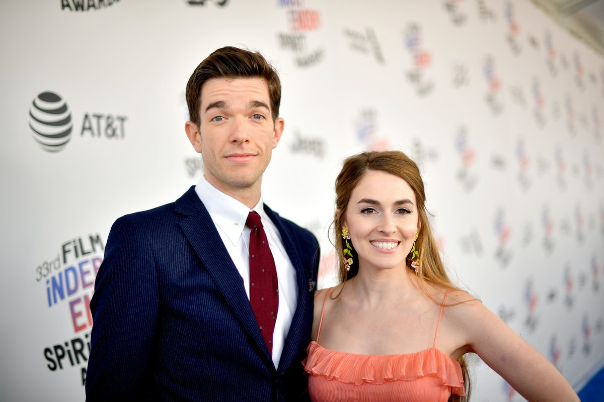 SANTA MONICA, CA - MARCH 03:  Comedian John Mulaney and wife Annamarie Tendler attends the 2018 Film...