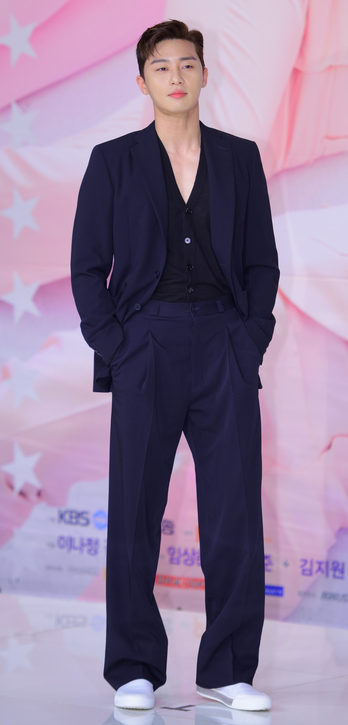 SEOUL, SOUTH KOREA - MAY 18: Actor Park Seo-Joon attends the press conference for KBS Drama 'Fight For My Way' at Times Square on May 18, 2017 in Seoul, South Korea. (Photo by The Chosunilbo JNS/Imazins via Getty Images)