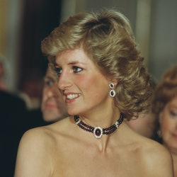 Princess Diana's hair is iconic; here, one of her signature looks.