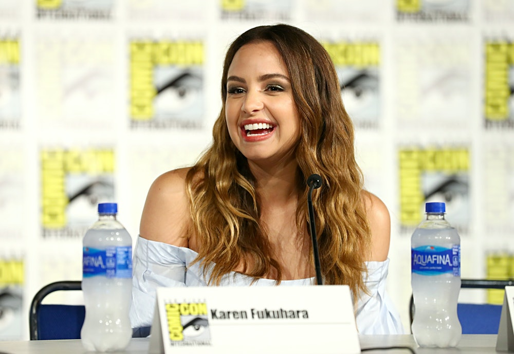 SAN DIEGO, CALIFORNIA - JULY 19: Aimee Carrero attends DreamWorks She-Ra and the Princesses of Power...