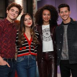 Joshua Bassett, Olivia Rodrigo, Sofia Wylie and Matt Cornett from the 'High School Musical' series c...
