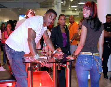 Nelly and fan during Nelly Autograph Signing Promoting Apple Bottom Jeans at Macy's Herald Square in New York City, New York, United States. (Photo by Johnny Nunez/WireImage)