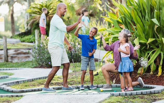 Play miniature golf on Father's Day.