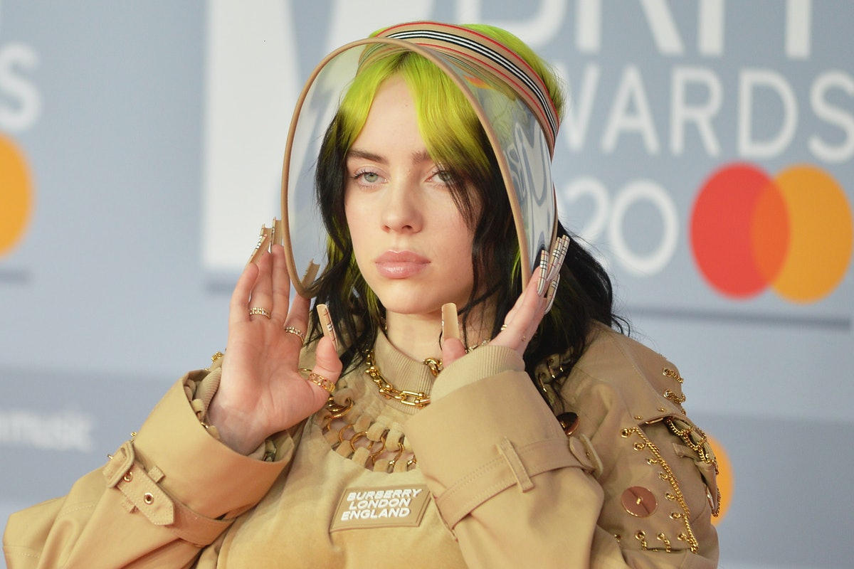 LONDON, ENGLAND - FEBRUARY 18: (EDITORIAL USE ONLY) Billie Eilish attends The BRIT Awards 2020 at Th...