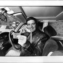 """Simon Townsend, seen here with his """"Gold Bank Card"""", and """"Car Phone"""". May 31, 1983. (Photo by Philip Wayne Lock/Fairfax Media via Getty Images)"""