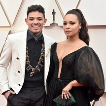 HOLLYWOOD, CALIFORNIA - FEBRUARY 09: (L-R) Anthony Ramos and Jasmine Cephas attend the 92nd Annual Academy Awards at Hollywood and Highland on February 09, 2020 in Hollywood, California. (Photo by Jeff Kravitz/FilmMagic)