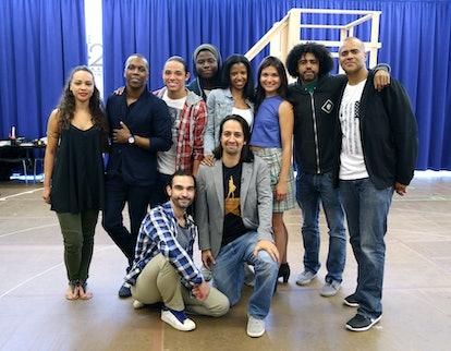 NEW YORK, NY - JUNE 18:  Principal cast members: Jasmine Cephas Jones, Leslie Odom Jr., Anthony Ramo...