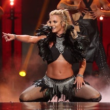 LAS VEGAS, NV - SEPTEMBER 24:  Singer Britney Spears performs onstage at the 2016 iHeartRadio Music Festival at T-Mobile Arena on September 24, 2016 in Las Vegas, Nevada.  (Photo by Christopher Polk/Getty Images for iHeartMedia)