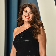BEVERLY HILLS, CALIFORNIA - FEBRUARY 09: Monica Lewinsky attends the 2020 Vanity Fair Oscar Party at Wallis Annenberg Center for the Performing Arts on February 09, 2020 in Beverly Hills, California. (Photo by David Crotty/Patrick McMullan via Getty Images)