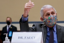 National Institute of Allergy and Infectious Diseases Director Anthony Fauci, testifies before a Hou...