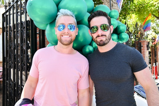 WEST HOLLYWOOD, CALIFORNIA - MAY 23: Lance Bass (L) and Michael Turchin attend The Abbey 30th Annive...
