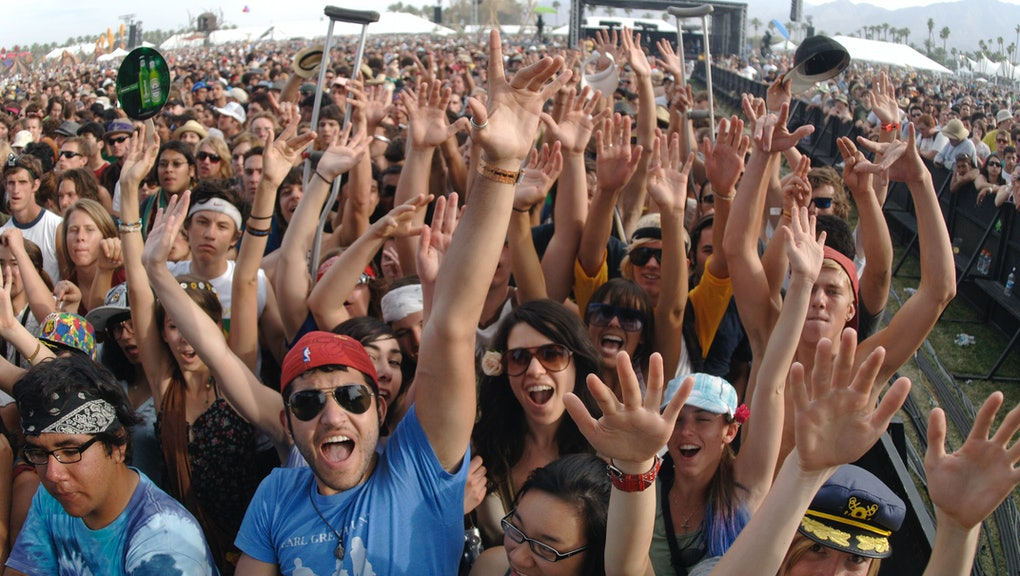 Atmosphere during Coachella 2008 at the Empire Polo Fields on April 27, 2008 in Indio, California. (...