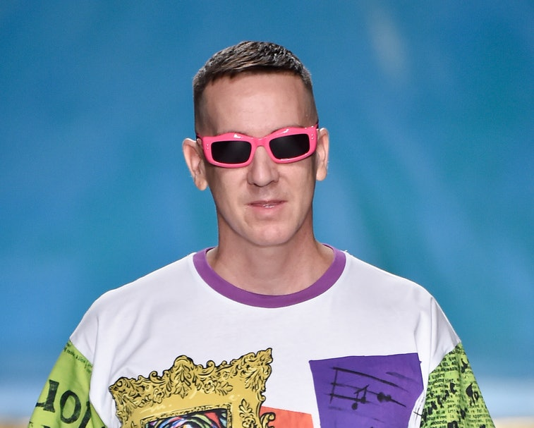 MILAN, ITALY - SEPTEMBER 19: Jeremy Scott walks the runway at the end of the Moschino show during the Milan Fashion Week Spring/Summer 2020 on September 19, 2019 in Milan, Italy. (Photo by Pietro D'Aprano/Getty Images)