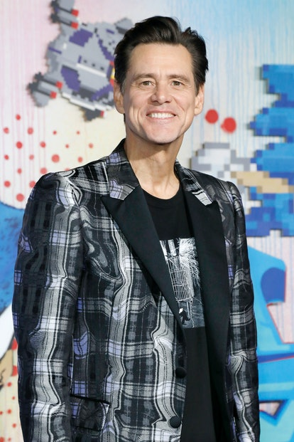WESTWOOD, UNITED STATES - FEBRUARY 12 2020: Jim Carrey photographed at the 'Sonic The Hedgehog' Special Screening at the Regency Village Theatre on February 12, 2020 in Westwood, California. PHOTOGRAPH BY P. Lehman / Barcroft Media (Photo credit should read P. Lehman/Barcroft Media via Getty Images)