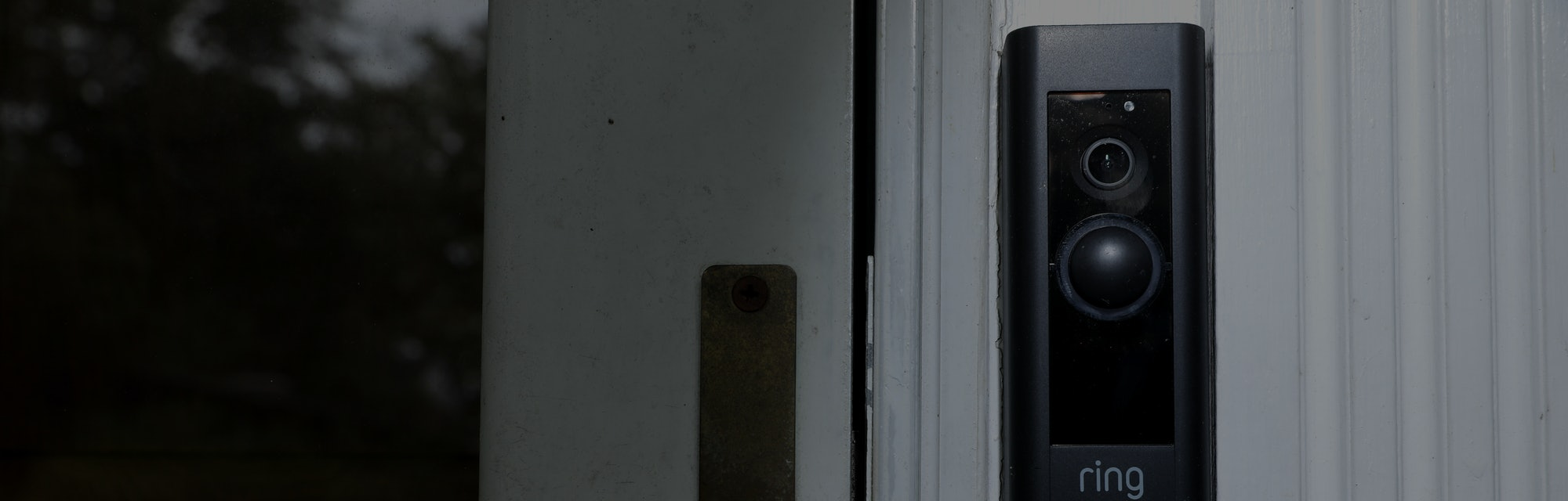 SILVER SPRING, MARYLAND - AUGUST 28: A doorbell device with a built-in camera made by home security ...