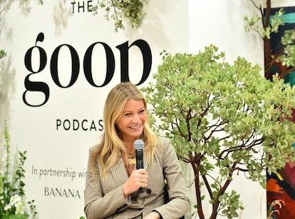 Gwyneth Paltrow speaks with Kerry Washington on her Goop Celebrity Podcast.