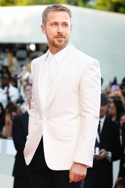 VENICE, ITALY - AUGUST 29: (EDITORS NOTE: Image has been digitally retouched) Ryan Gosling attends the 'First Man' premiere and opening of the 75th Venice Film Festival at the Palazzo del Cinema on August 29, 2018 in Venice, Italy.  (Photo by Kurt Krieger/Corbis via Getty Images)