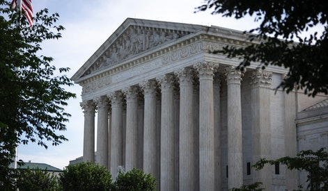 WASHINGTON, DC - JUNE 1: A general view of the U.S. Supreme Court on June 1, 2021 in Washington, DC. The Supreme Court is set to issue several rulings this month, including cases concerning the Affordable Care Act, a dispute involving LGBT and religious rights, and a case related to voting restrictions in Arizona. (Photo by Drew Angerer/Getty Images)