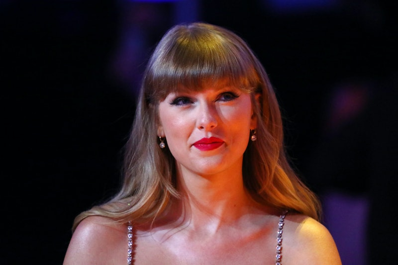 LONDON, ENGLAND - MAY 11: Taylor Swift, winner of the Global icon Award, is seen during The BRIT Awards 2021 at The O2 Arena on May 11, 2021 in London, England. (Photo by JMEnternational/JMEnternational for BRIT Awards/Getty Images)
