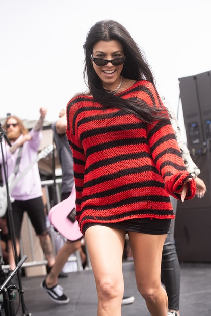 VENICE, CALIFORNIA - JUNE 19: Kourtney Kardashian attends the NoCap Shows x Machine Gun Kelly secret show on June 19, 2021 in Venice, California. (Photo by Scott Dudelson/Getty Images)