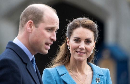Britain's Prince William, Duke of Cambridge and Britain's Catherine, Duchess of Cambridge attend a B...